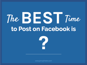 Best Time to Post on Facebook graphic